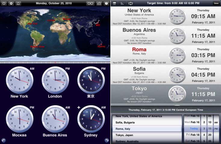 The World Clock – время всех стран мира в Вашем iPad » Apple iPhone