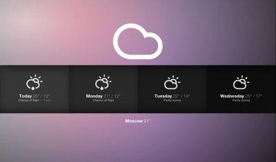Sun:  отличное приложение для просмотра погоды