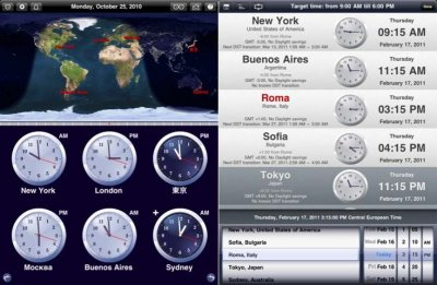 The World Clock – время всех стран мира в Вашем iPad