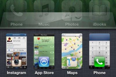 Концепт многозадачности для iPhone 5