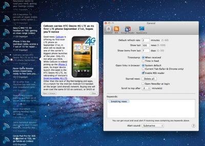 News Bar RSS Reader – новости на рабочем столе (Mac)