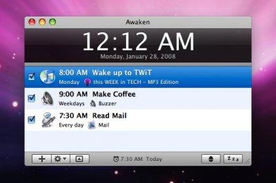 Awaken: будильник на Mac