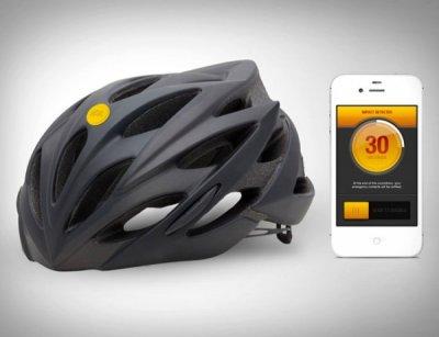 Датчик для iPhone, который установлен на шлеме, может сам вызвать помощь