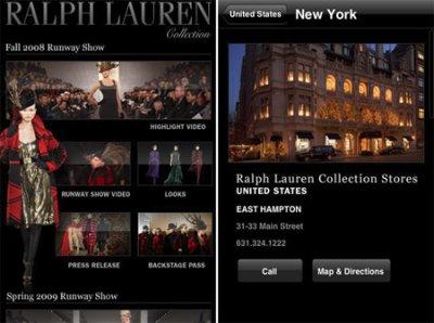 Новое приложение для айфона Ralph Lauren Collection для модниц