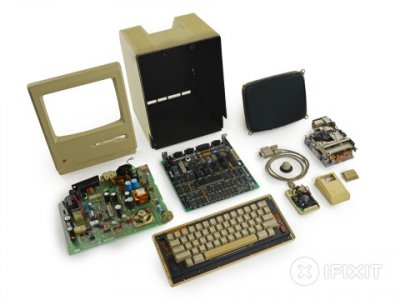 Разобран компьютер Apple Macintosh 128K